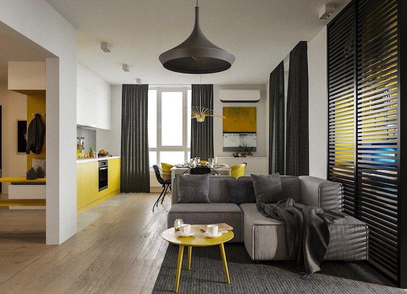 чорний і жовтий у дизайні