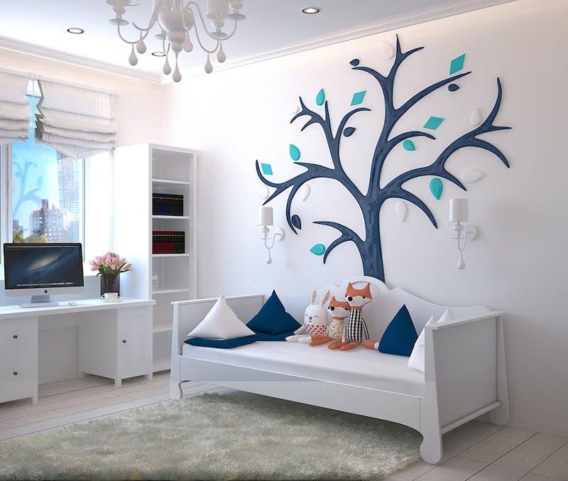 інтер'єр дитячої кімнати в скандинавському стилі