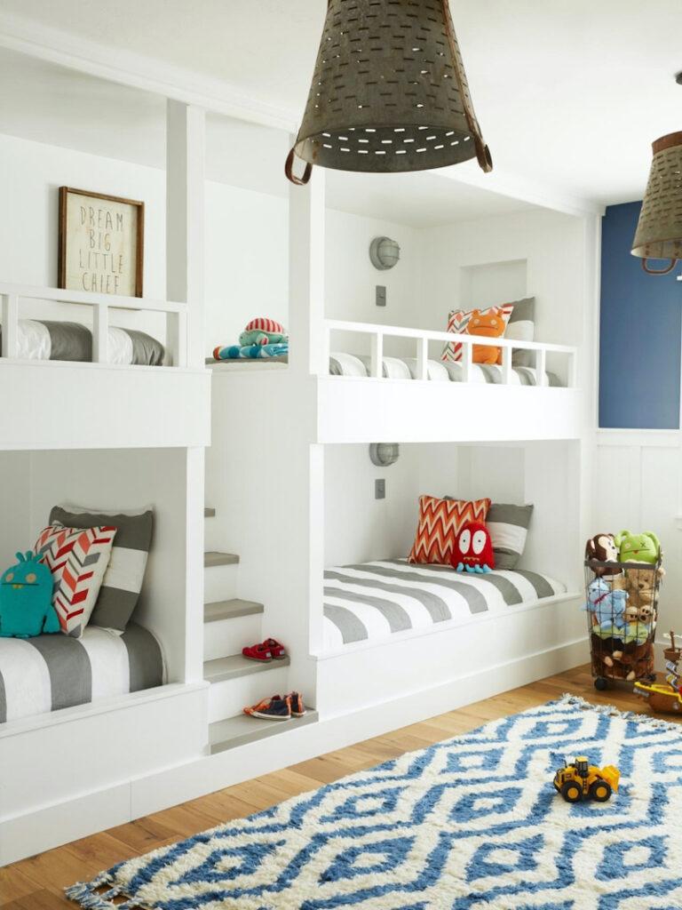 дитяча для різностатевих дітей з двоповерховими ліжками