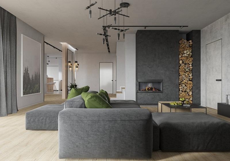 Оформление зала в особняке