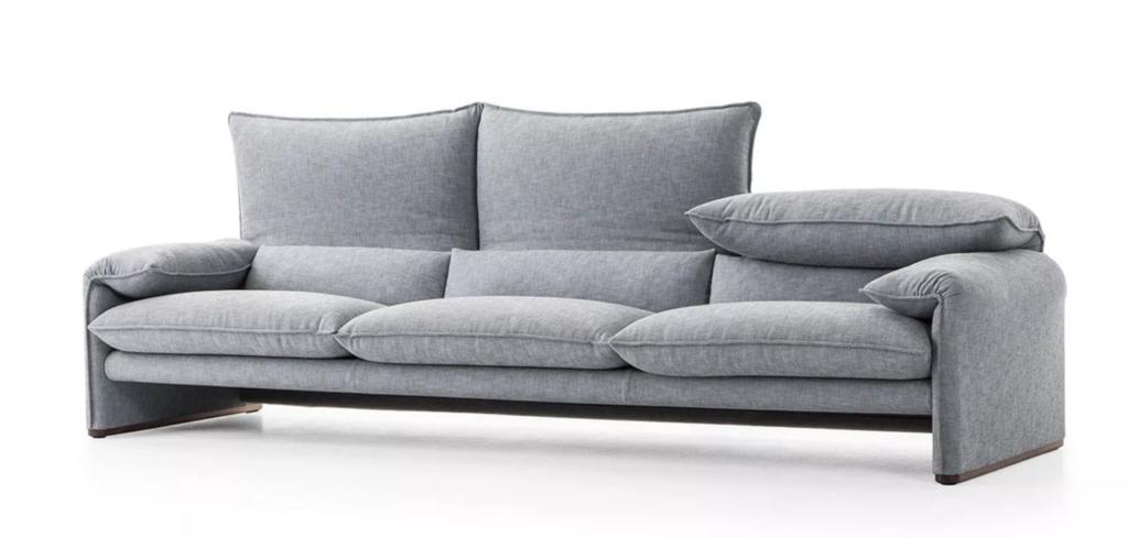 как выбрать диван, серый мягкий диван