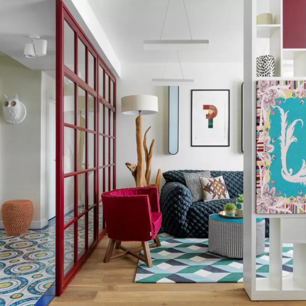 как выбрать диван, фактурные мебель, яркий интерьер
